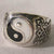BLACK & WIHITE YIN YANG BIKER RING (Sold by the piece)