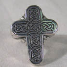 BIKER RING CELTIC CROSS (Sold by the piece) CLOSEOUT $ 3.75 EA