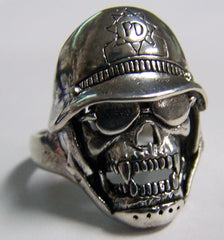 VAMPIRE SKULL SUNGLASSES PD HAT BIKER RING  (Sold by the piece)