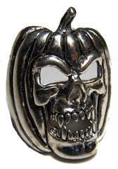 PUMPKIN HEAD SKULL BIKER RING (Sold by the piece) **-  CLOSEOUT AS LOW AS $3.75 EA