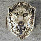 LION HEAD DELUXE SILVER BIKER RING (Sold by the piece) - CLOSEOUT NOW $ 3.75 EA