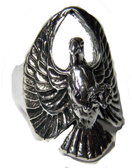FLYING EAGLE WITH CLAWS BIKER RING  (Sold by the piece)
