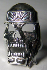 KAMIKAZE NINJA SKULL DELUXE BIKER RING  (Sold by the piece) *