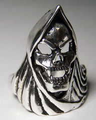 GRIM REAPER SKULL WITH CAPE DELUXE BIKER RING  (Sold by the piece)