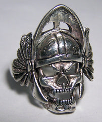 WARRIOR SKULL WITH HELMET BIKER RING (Sold by the piece)