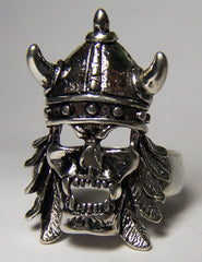 VIKING VAMPIRE WITH HELMET BIKER RING (Sold by the piece)