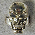 SKULL VAMPIRE HEAD BIKER RING  (Sold by the piece) *CLOSEOUT $ 3.75 EA