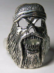 SASQUATCH BIG FOOT SILVER DELUXE BIKER RING   (Sold by the piece)