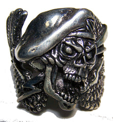 SPECIAL FORCES SKULL WINGS DELUXE BIKER RING  (Sold by the piece) *