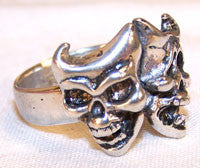 THEATRE MASK SKULLS BIKER RING (Sold by the piece)