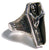 REAPER IN COFFIN  BIKER RING (Sold by the piece)