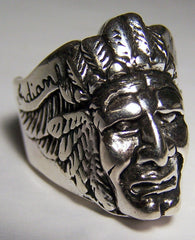 INDIAN MOTORCYCLES DELUXE BIKER RING  (Sold by the piece)