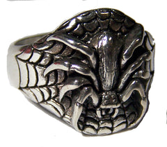 SPIDER & WEB BIKER RING (Sold by the piece)