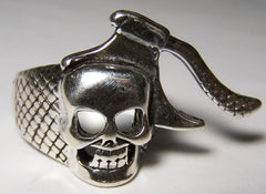 SKULL HEAD WITH HATCHET DELUXE BIKER RING (Sold by the piece) *