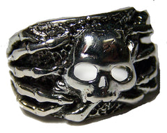 SKELETON FINGERS SKULL BIKER RING  (Sold by the piece) *