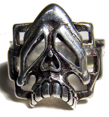 MELTING SKULL HEAD BIKER RING (Sold by the piece) * *-  CLOSEOUT AS LOW AS $ 2.95 EA