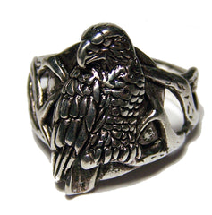 EAGLE SITTING ON BRANCH BIKER RING (Sold by the piece) *