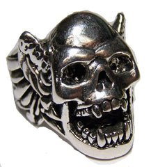 VAMPIRE DEMON WINGS BIKER RING  (Sold by the piece)