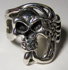 SLIMLINED SKULL BIKER RING (Sold by the piece) * - CLOSEOUT AS LOW AS $ 2.95 EA