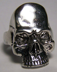 SKULL HEAD DELUXE SIVER BIKER RING (Sold by the piece) *