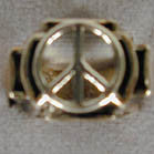 3D PEACE SIGN BIKER RING  (Sold by the piece) -* CLOSEOUT $3.75 EA