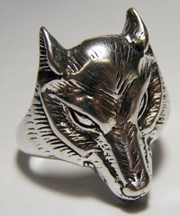 WOLF HEAD  DELUXE BIKER RING (Sold by the piece) *
