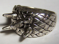 FIVE SPIKES DELUXE BIKER RING  (Sold by the piece)