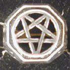 BIKER RING PENTAGRAM (Sold by the piece)