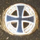 IRON CROSS IN CIRCLE  DELUXE BIKER RING (Sold by the piece) *  CLOSEOUT $ 3.75 EA