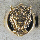 WOLF MAN FACE BIKER RING  (Sold by the piece) *- CLOSEOUT $ 3.75 EA
