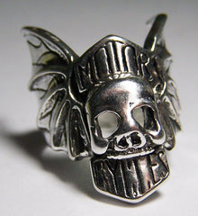 MOTOR CYCLES SKULL BIKER RING  (Sold by the piece)