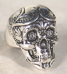 BIKER RING SUGAR SKULL (Sold by the piece)