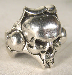 SKULL HEAD BIKER RING (Sold by the piece)