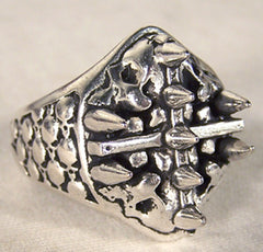 BIKER RING CROSS SPIKES (Sold by the piece) *CLOSEOUT $ 3.75 EACH