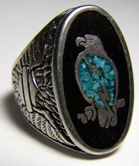 STANDING EAGLE SILVER DELUXE BIKER RING (Sold by the piece) * CLOSEOUT NOW ONLY $3.75 EA - size 7 only
