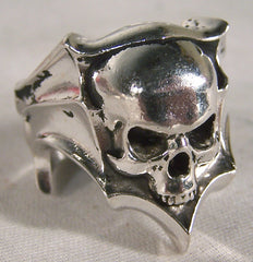 SKULL SHIELD BIKER RING (Sold by the piece)