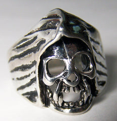 SKULL WITH CAPE BIKER RING  (Sold by the piece) *