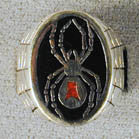BLACK WIDOW SPIDER WITH RED DOT BIKER RING (Sold by the piece)