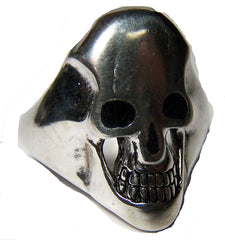 SKULL HEAD BLACK INLYED EYES BIKER RING (Sold by the piece)