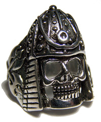 MIDIEVAL ARMORED SOLDIER SKULL BIKER RING (Sold by the piece) *