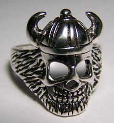 BIKER RING SPIKED HELMET VIKING SKULL (Sold by the piece)