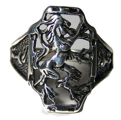 GRIFFIN HORSE DRAGON SILVER BIKER RING  (Sold by the piece) *