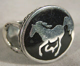 BIKER RING HORSE W HORSE SHOE ON SIDES (Sold by the piece)