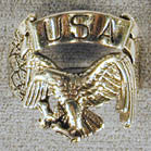 BIKER RING USA EAGLE (Sold by the piece) -* CLOSEOUT NOW ONLY $ 3.75 EA