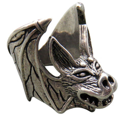 CREEPY BAT BIKER RING (Sold by the piece)