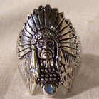 BIKER RING INDIAN WITH HEAD DRESS & FEATHERS (Sold by the piece)