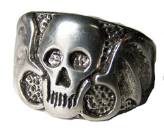WINGED SKULL HEAD BIKER RING (Sold by the piece) *