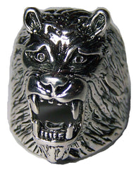 ROARING LION HEAD BIKER RING  (Sold by the piece)