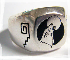 HOWLING WOLF DELUXE BIKER RING (Sold by the piece)