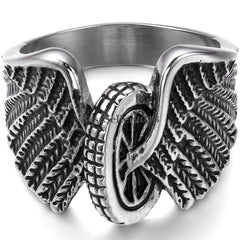 MOTORCYCLE TIRE WHEEL WITH WINGS BIKER RING (Sold by the piece)
